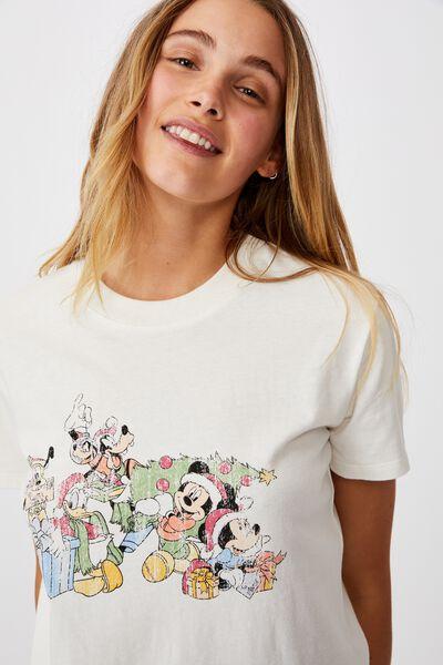 Classic Christmas License T Shirt, LCN DIS MICKEY GROUP XMAS/GARDENIA