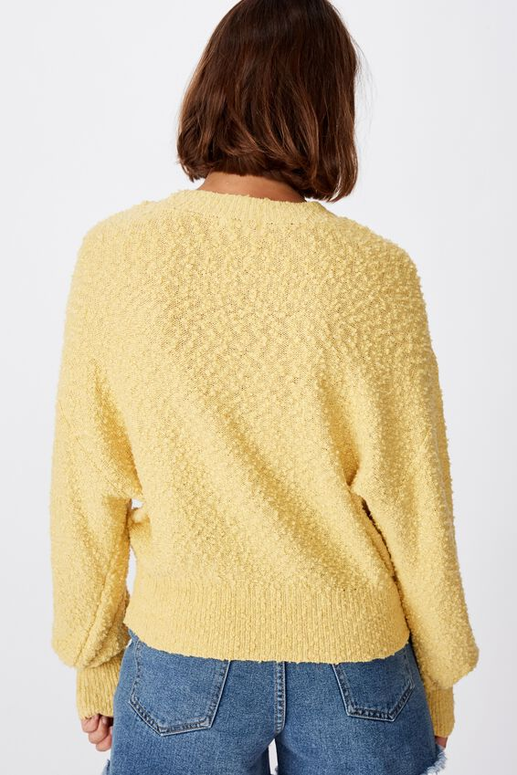 Blousson Textured Pullover, RAFFIA