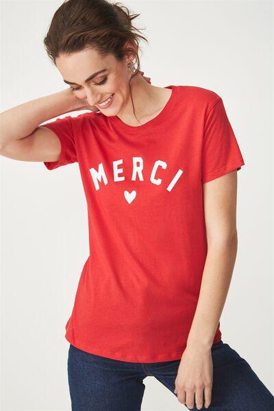 Tbar Fox Graphic T Shirt, MERCI/CHILLI RED