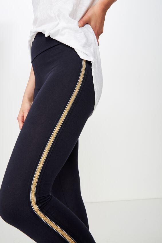 Dakota Detail Legging, MOONLIGHT/LUREX SIDE TAPE