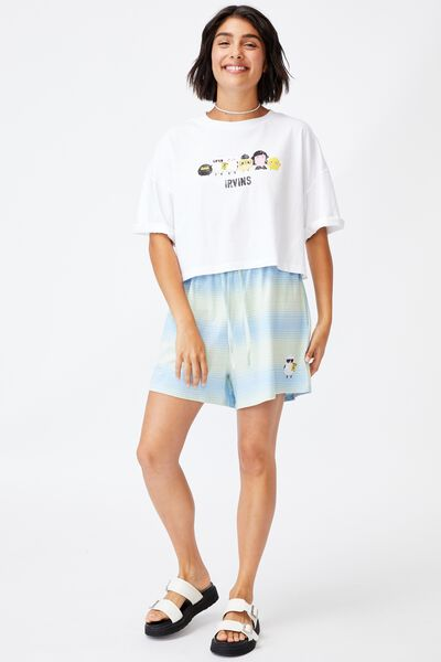 Josie Jersey Short, LCN IRV IRVINS BUL/AUTHENTIC BLUE