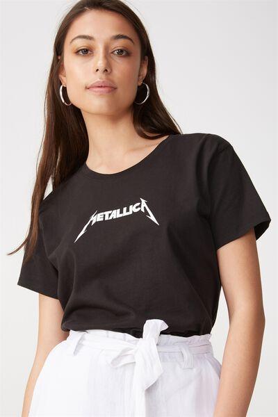Tbar Fox Graphic T Shirt, LCN METALLICA LOGO/BLACK