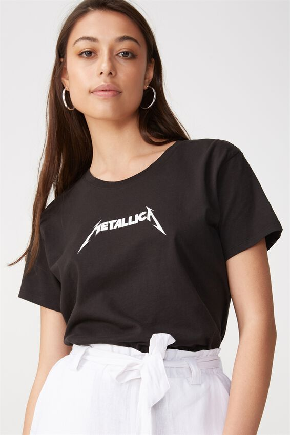 Tbar Fox Graphic T Shirt, LCN METALLICA LOGO/BLACK