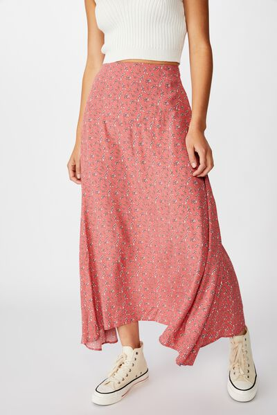 Florence Midi Skirt, JENNY LEAF FADED ROSE