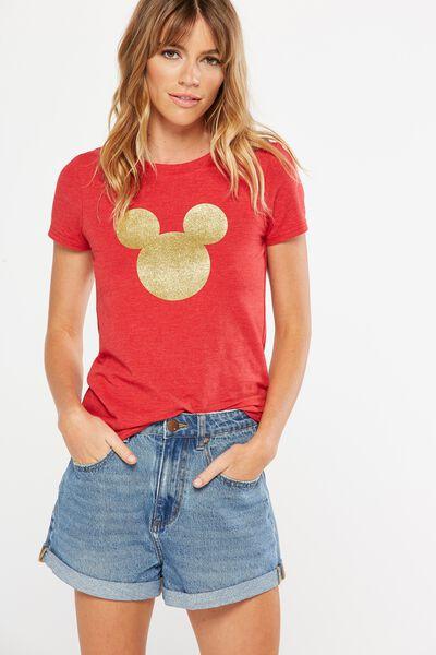 Tbar Hero Graphic T Shirt, LCN MICKEY/CHERRY RED MARLE