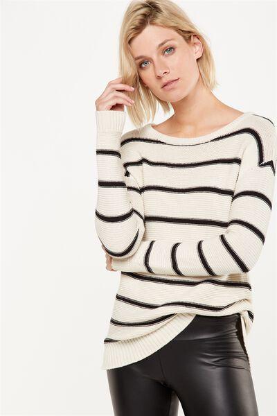 Archy 4 Pullover, OAT & BLACK STRIPE