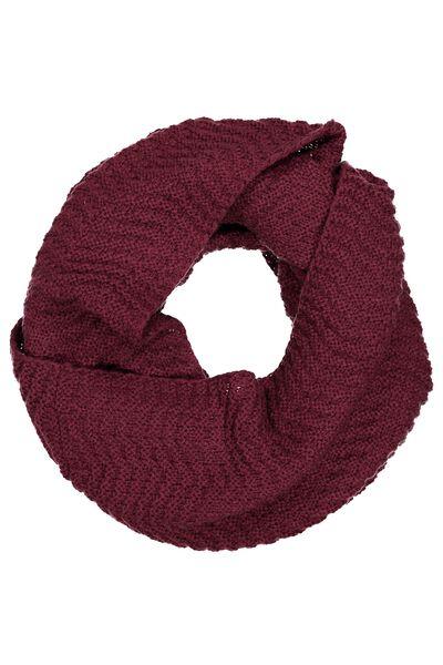 Cedar Knitted Snood, ZINFANDEL