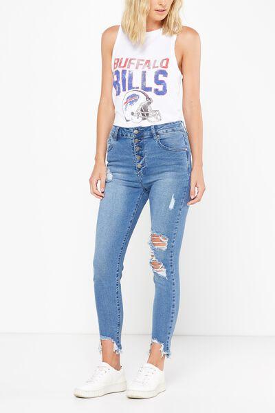 High Rise Grazer Skinny Jean, CRUSH BLUE RIPS