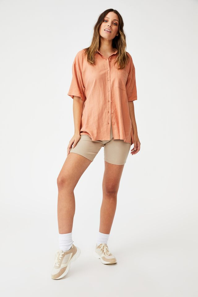 Dad Short Sleeve Shirt, HONEY PINK