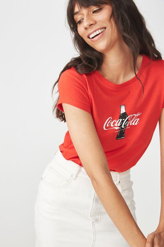 Tbar Rachael Graphic Tee Shirt, LCN COLA BOTTLE/ FLAME SCARLET