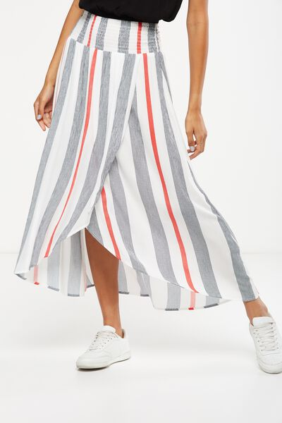 Woven Gloria Maxi Skirt, ADELE STRIPE BITTERSWEET VERTICAL