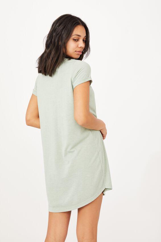 Tina Tshirt Dress 2, LUSH GREEN MARLE