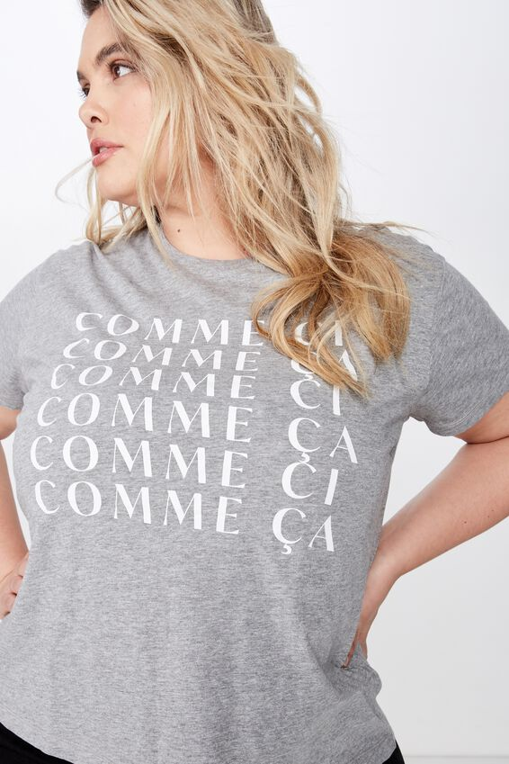 Curve Graphic Tee, COMME CI/GREY MARLE