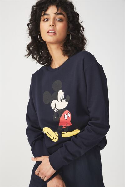 Ferguson Graphic Crew Sweater, LCN MICKEY POSE/MOONLIGHT