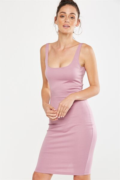 Kimi Scooped Bodycon Midi Dress, ORCID HAZE
