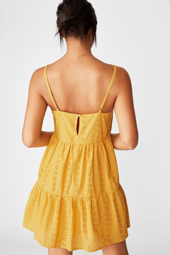 Woven Betty Tiered Mini Dress, MANGO