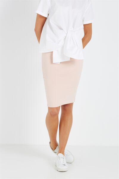 Midi Tube Skirt, NUDE PINK