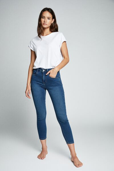 Mid Rise Cropped Super Stretch, BERKLEY BLUE POCKETS
