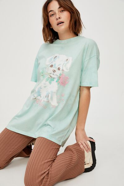 The Relaxed Boyfriend Graphic Tee, VINTAGE PUPPY/TIE DYE