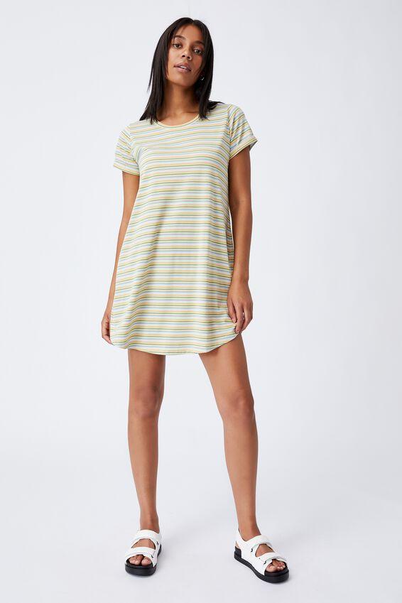 Tina Tshirt Dress 2, GRACIE STRIPE BLUE