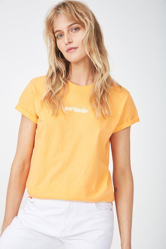 Tbar Fox Graphic T Shirt, WORLDWIDE/FLAME ORANGE