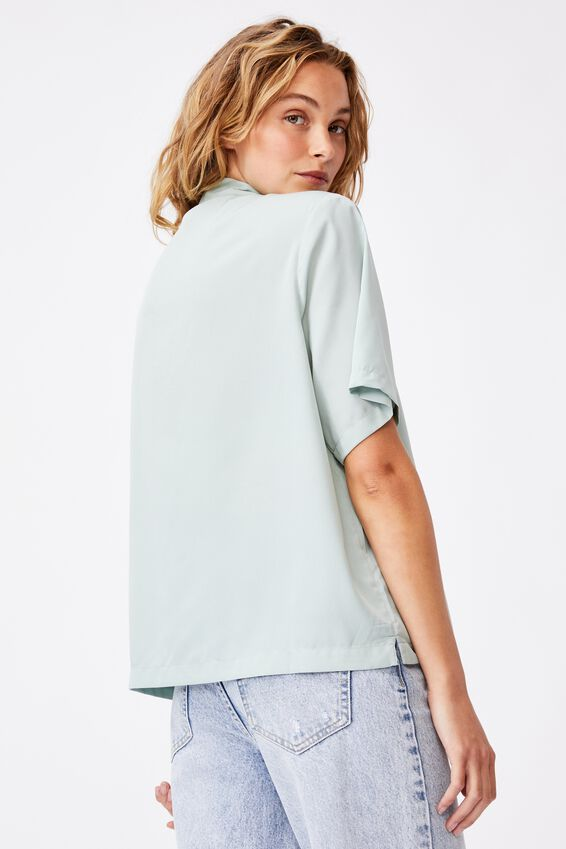 Capri Short Sleeve Shirt, LUSH GREEN