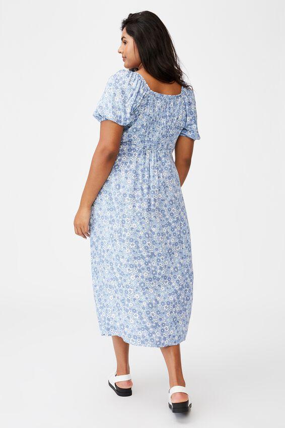 Curve Mary Midi Dress, WINDSOME DITSY DUSK BLUE