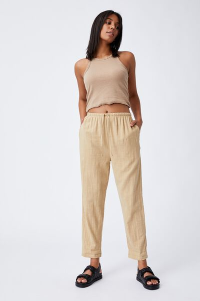 Cali Pull On Pant, BROWN TAUPE