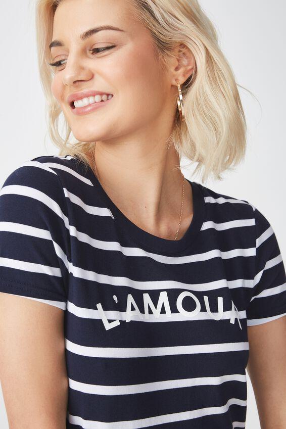 Tbar Hero Graphic T Shirt, L'AMOUR WHITE/MOONLIGHT STRIPE