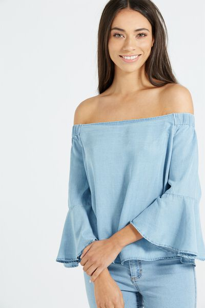 Abbie Off The Shoulder Top, LYOCELL
