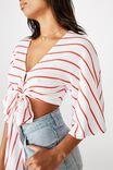 Jude Kimono Sleeve Top, HARLOW STRIPE WHITE/MELON