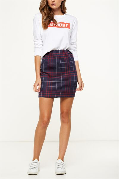 Poppy Pull On Mini Skirt, DIANA CHECK