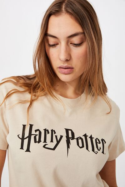 Classic Harry Potter Logo T Shirt, LCN WB HARRY POTTER LOGO/PEARL