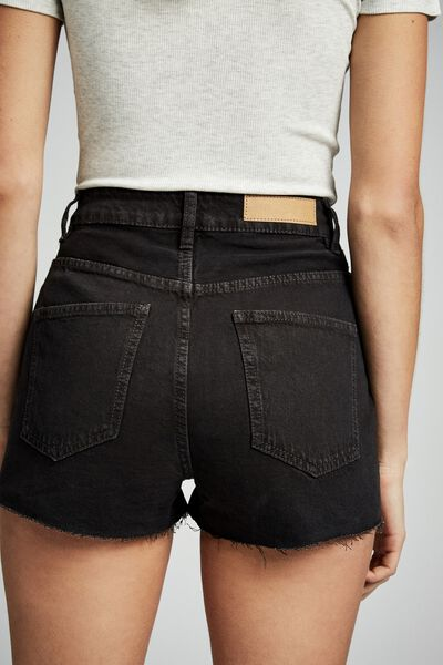 High Rise Goldie Denim Short, VINTAGE BLACK WASH