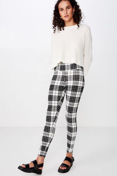Tranquil Legging, EMILIA CHECK BLACK/WHITE