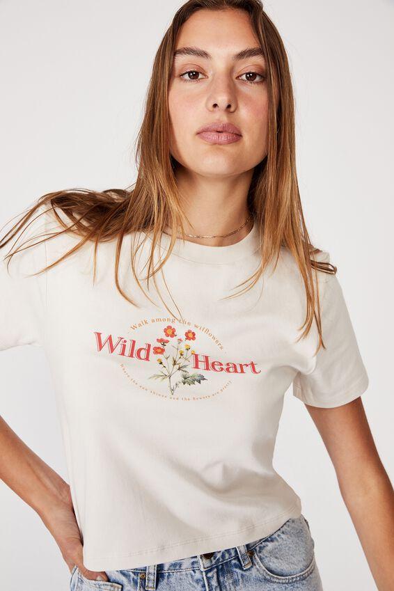Rhi Rib Crop Graphic Tee, WILD HEART/WHITE SAND