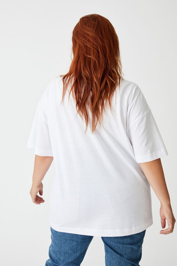 Curve Oversized Graphic Tee, EASY RIDER WHITE