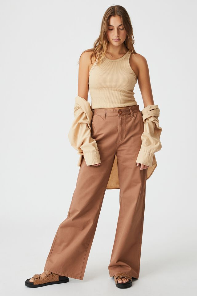 Parker Long Straight Pant, COCOA BEAN
