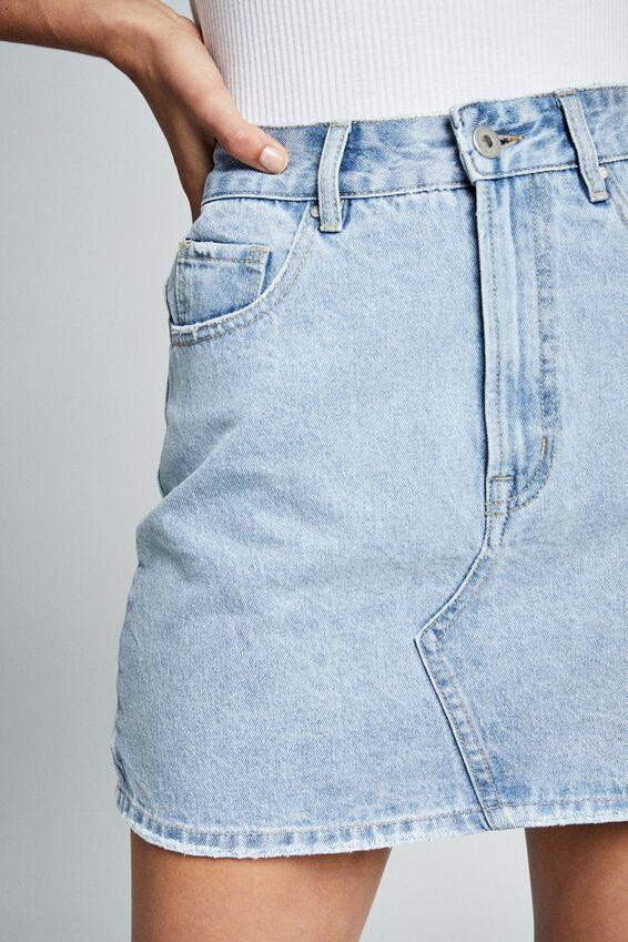 The Classic Denim Skirt, LAGUNA BLUE