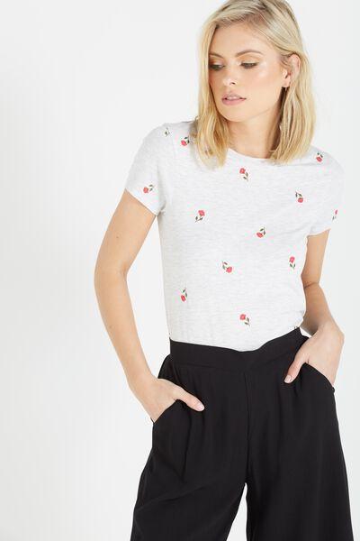 Tbar Hero Graphic T Shirt, FLOWER YARDAGE/SILVER MARLE