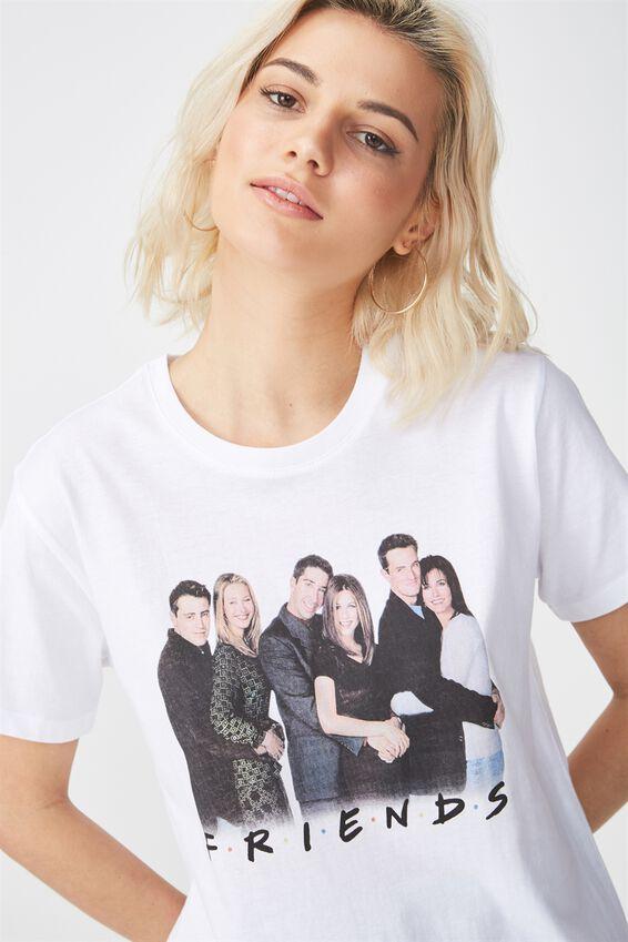 Friends Graphic T Shirt, LCN FRIENDS HUGGING/WHITE