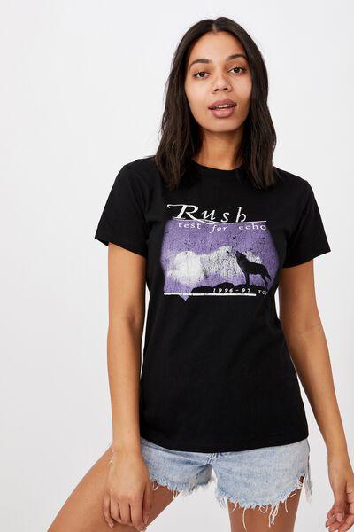 Classic Band T Shirt, LCN MT RUSH TOUR/BLACK