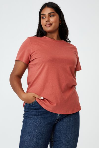 Curve The One Crew Tee, EARTHY RED