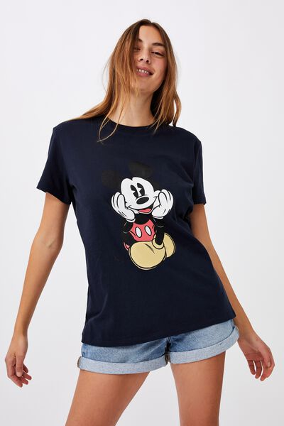 Classic Mickey Front & Back T Shirt, LCN DIS MICKEY FRONT AND BACK/MOONLIGHT
