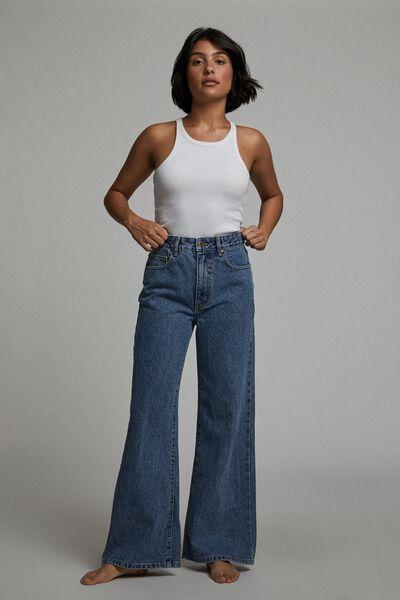 Petite Wide Leg Jean, LUCKY BLUE