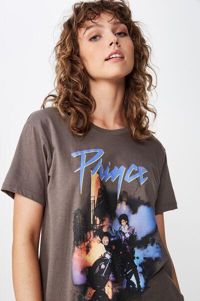 Classic Band T Shirt, LCN BR PRINCE MOTORBIKE/SLATE GREY