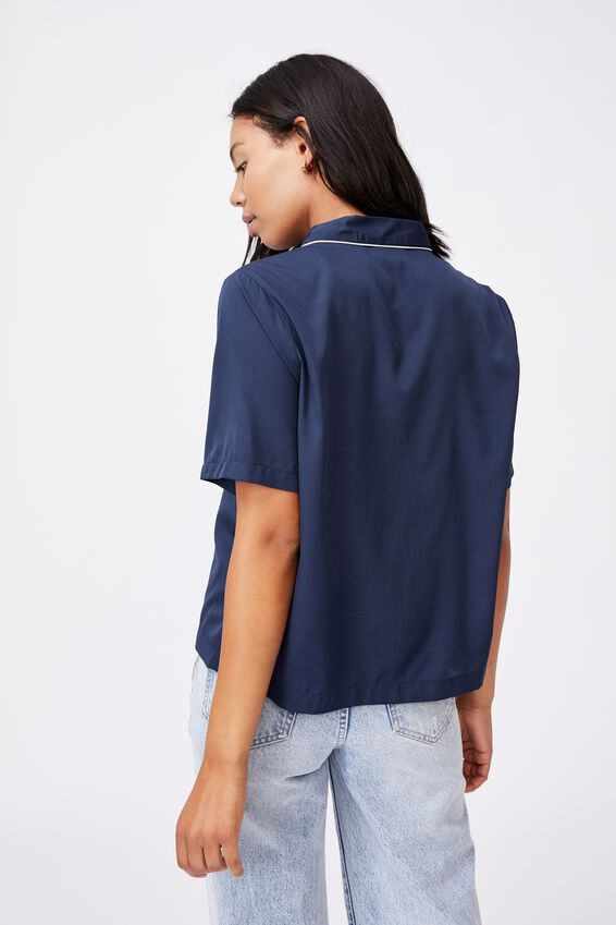 Capri Short Sleeve Shirt, MIDNIGHT FESTIVAL