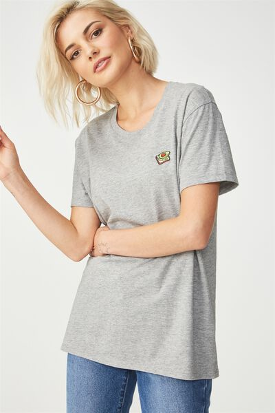 Tbar Fox Graphic T Shirt, AVO ON TOAST/GREY MARLE