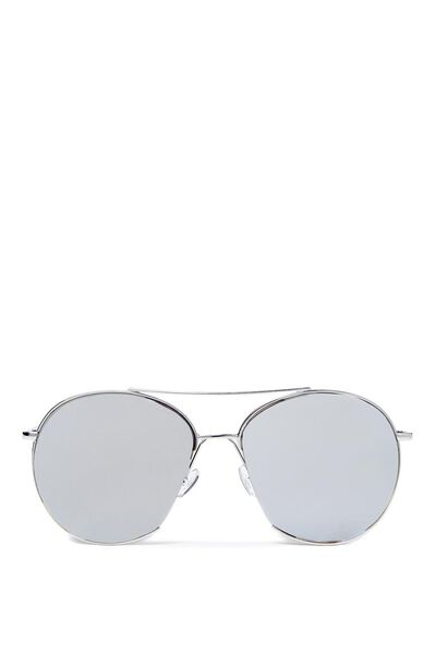 Straight Cut Aviators, SILVER/SILVER