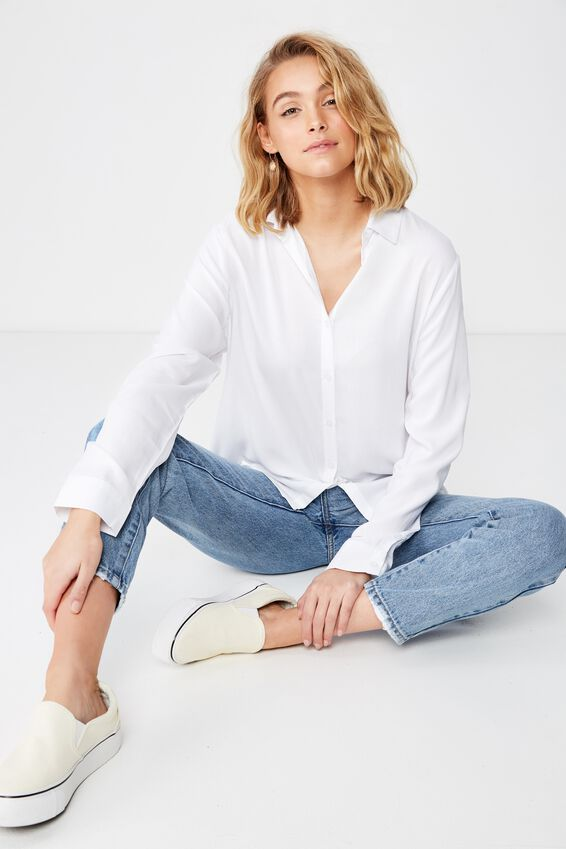 Rachel Everyday Shirt, WHITE
